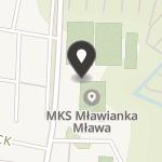 """Miejski Klub Sportowy """"Mławianka"""" Mława na mapie"""